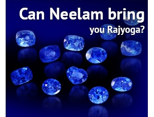 Wearing Saturn's Precious Stone 'Blue Sapphire' can bring you Rajyoga