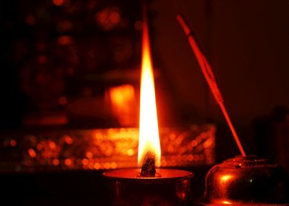 Lighting lamps for Puja