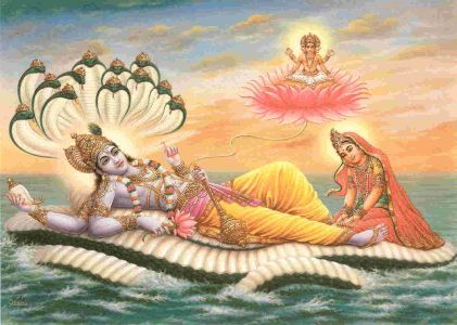 Birth of Lord Brahma and creation of the Universe