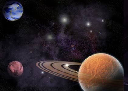 What do Mars & Saturn represent?