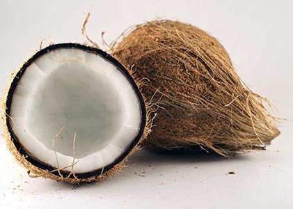 Offer fruits and coconut for