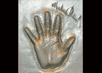 Hand cast of Michael Jackson from Madame Tussauds