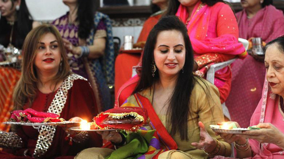 Festival of Karwa Chauth is celebrated enthusiastically in majority