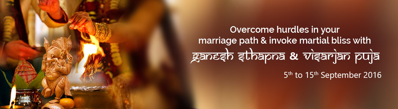 Live a happy married life with Ganpati Sthapna Puja!